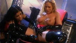 Keep out poofter video with latex amulet - Alexis and Tyler Faith