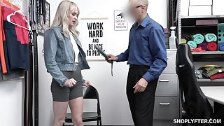 Pretty blond student Lilly Siren gets punished for shoplifting