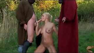 Horny knights enjoyment from ladies in hardcore style