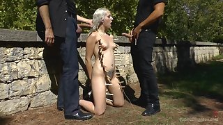 BDSM torture, fucking and public humiliation for Liz Rainbow