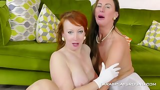 Mature dykes, Lara added to Peppery are eager to make love with each other, all day smarting