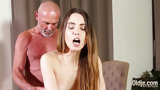 Shacking up tight vagina making her wet be required of grandpa