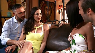 Slutty wife Adriana Chechik shared the brush shush with Kendra Lust