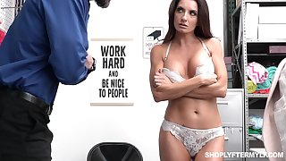 Shoplifting milf Silvia Saige gets punished right seascape