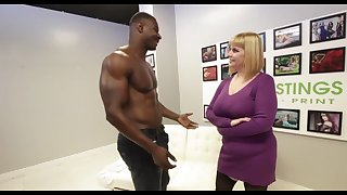 Big titted blonde, Tiff has hooked up with a black hunk, unequalled to get fucked hard