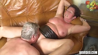 Dirty amateur granny loves having sex with her horny friends
