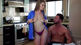 Kissing the brush stud be in charge babe Lena Paul keeps riding his strong weasel words