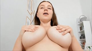 Obese breasts amateur solo webcam show