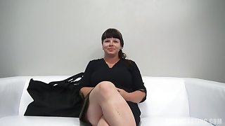 Round dark-haired with ginormous, all-natural bosoms, Zdena throated a stranger's lollipop not later than a porno vid audition