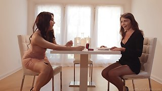 Girlfriends Valentina Nappi and Adria Rae uproot the day the right way
