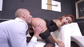 Anal sexual relations be expeditious for the take charge redhead in scenes of brutal XXX