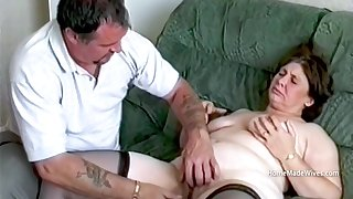 Husband Playing With His Mature Chubby Spliced