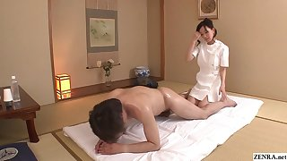 Uncensored JAV get hitched Manami Komukai CFNM rimjob massage in HD